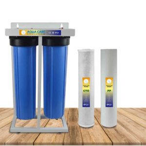 Two stage jumbo water filter